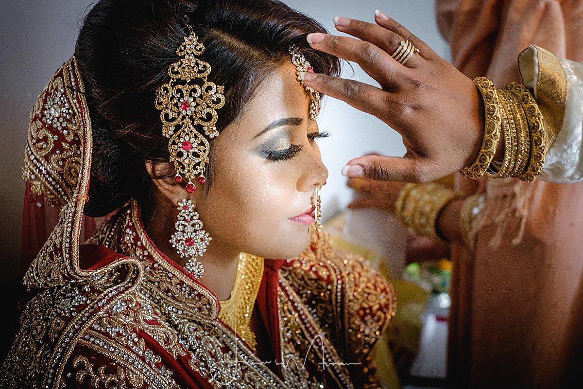 Muslim Bride preparing for her wedding