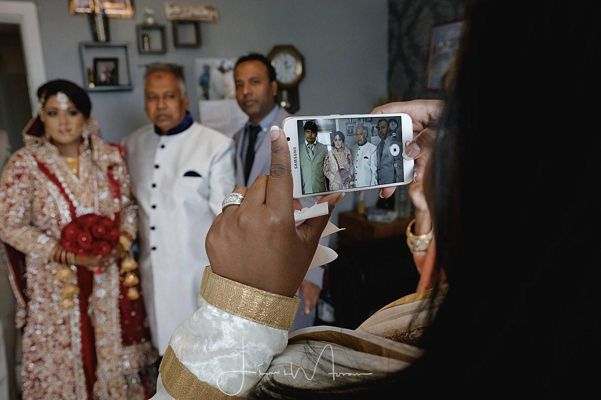 Brides family preparing for the wedding