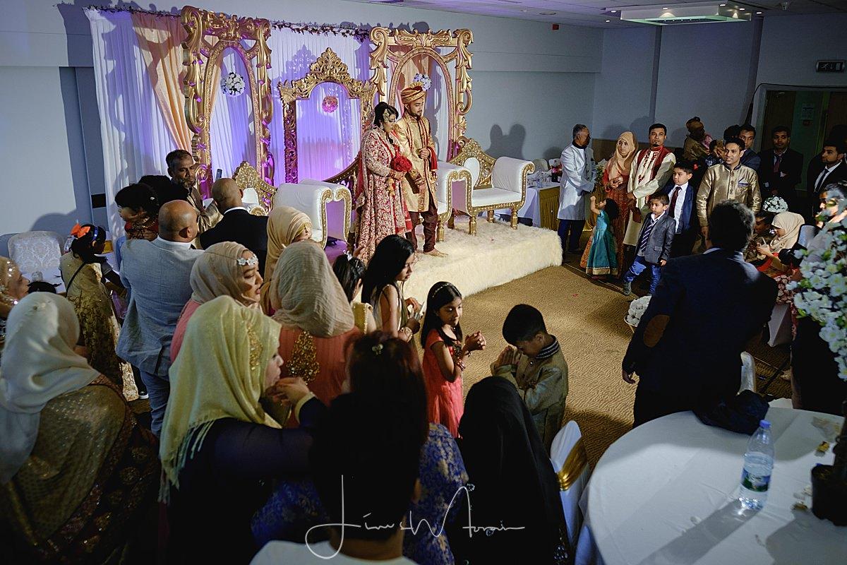 Muslim Groom arriving at his wedding