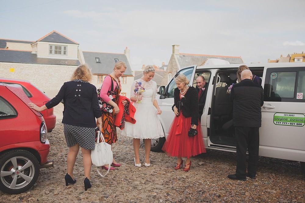 Dorset beach wedding
