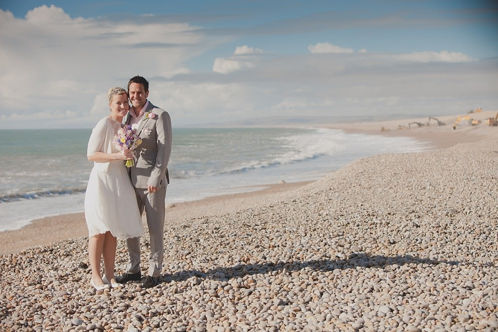 Dorset beach wedding