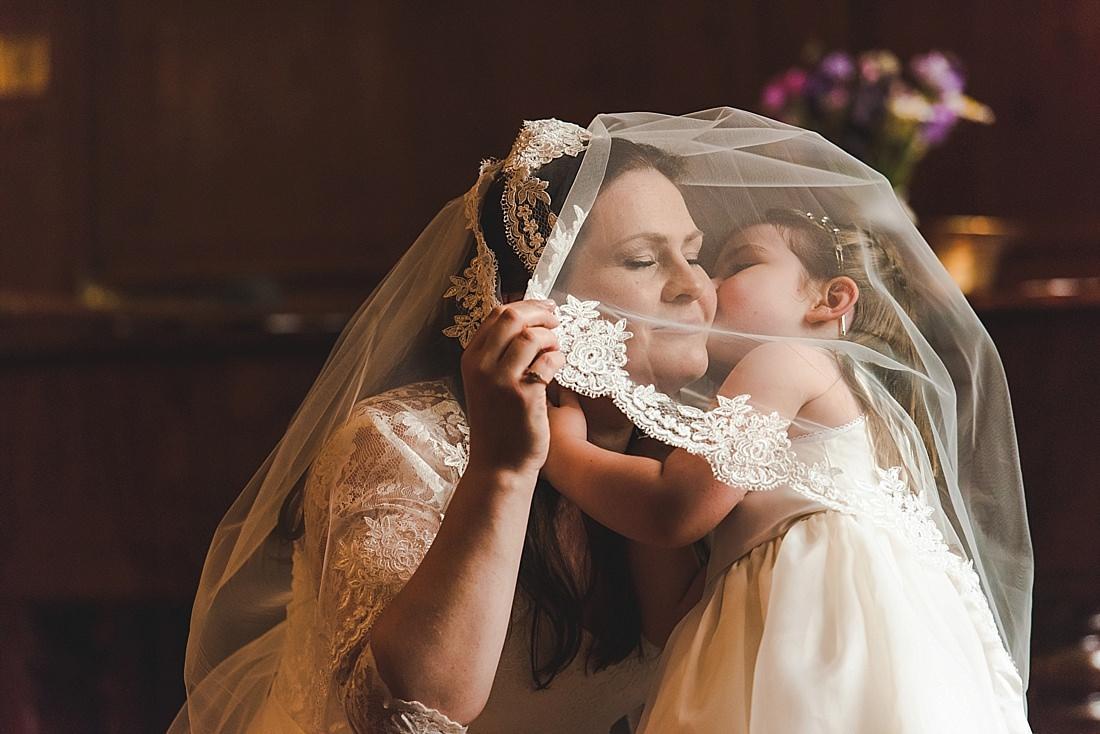 Deans Court Weddings Bride & Flower Girl