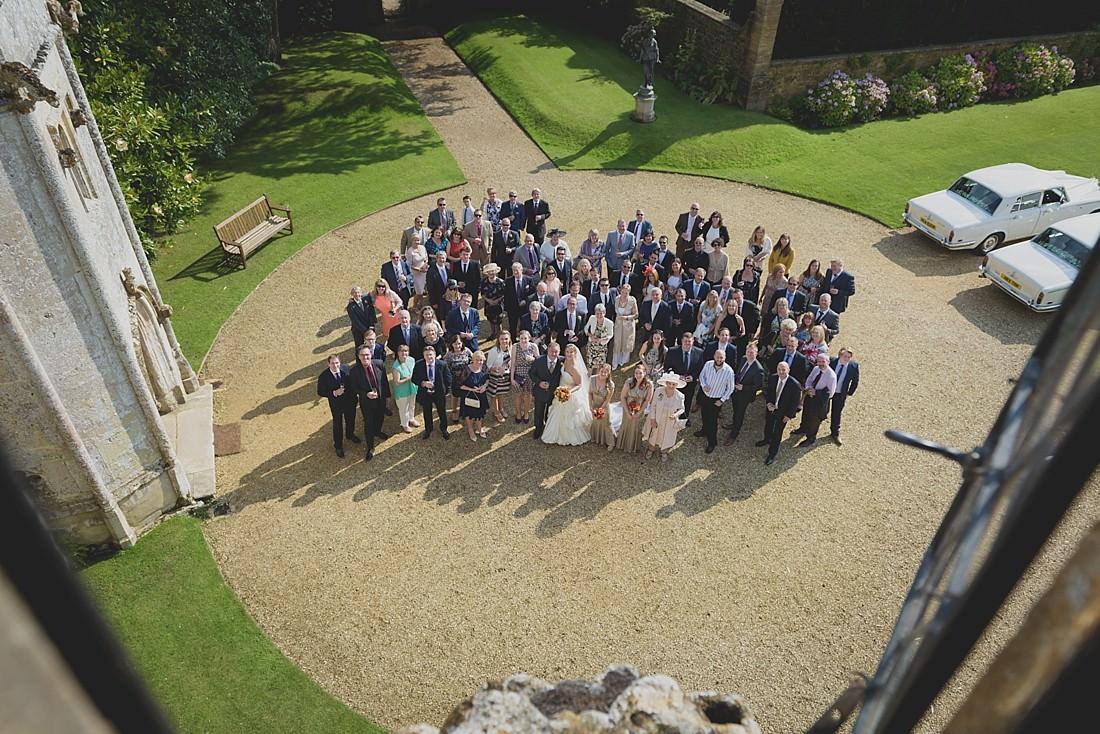 Wedding Group portrait at Athelhampton House