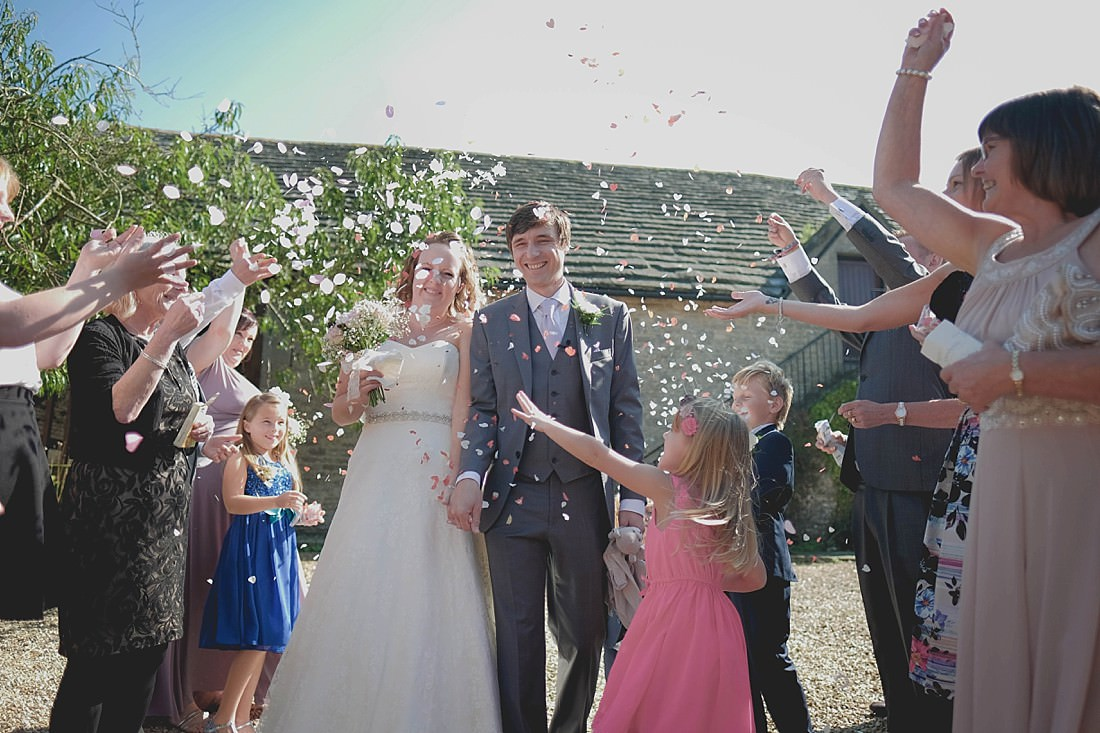 Confetti shot at Kingston Country Courtyard Wedding