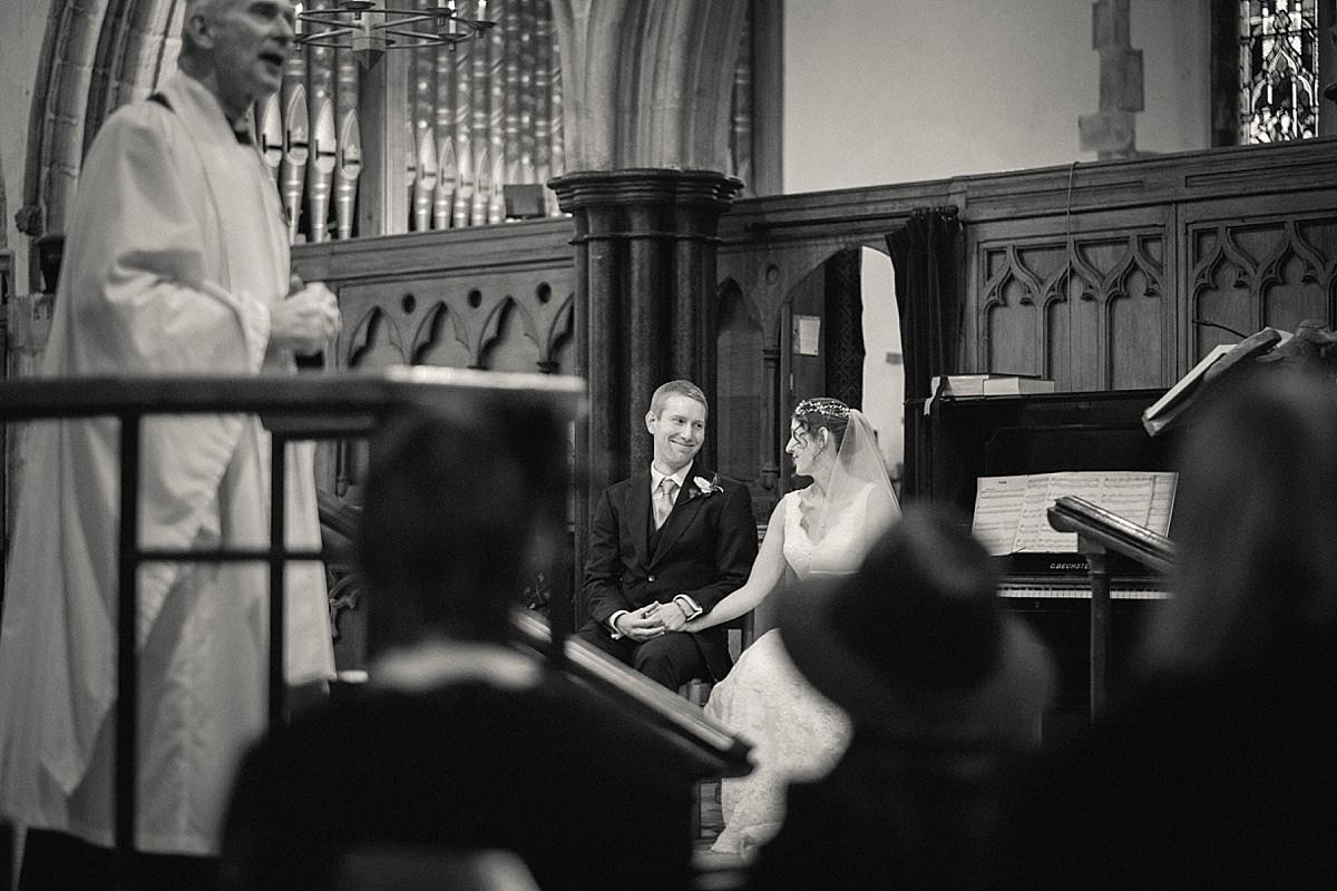 Corfe Castle Church Winter Wedding