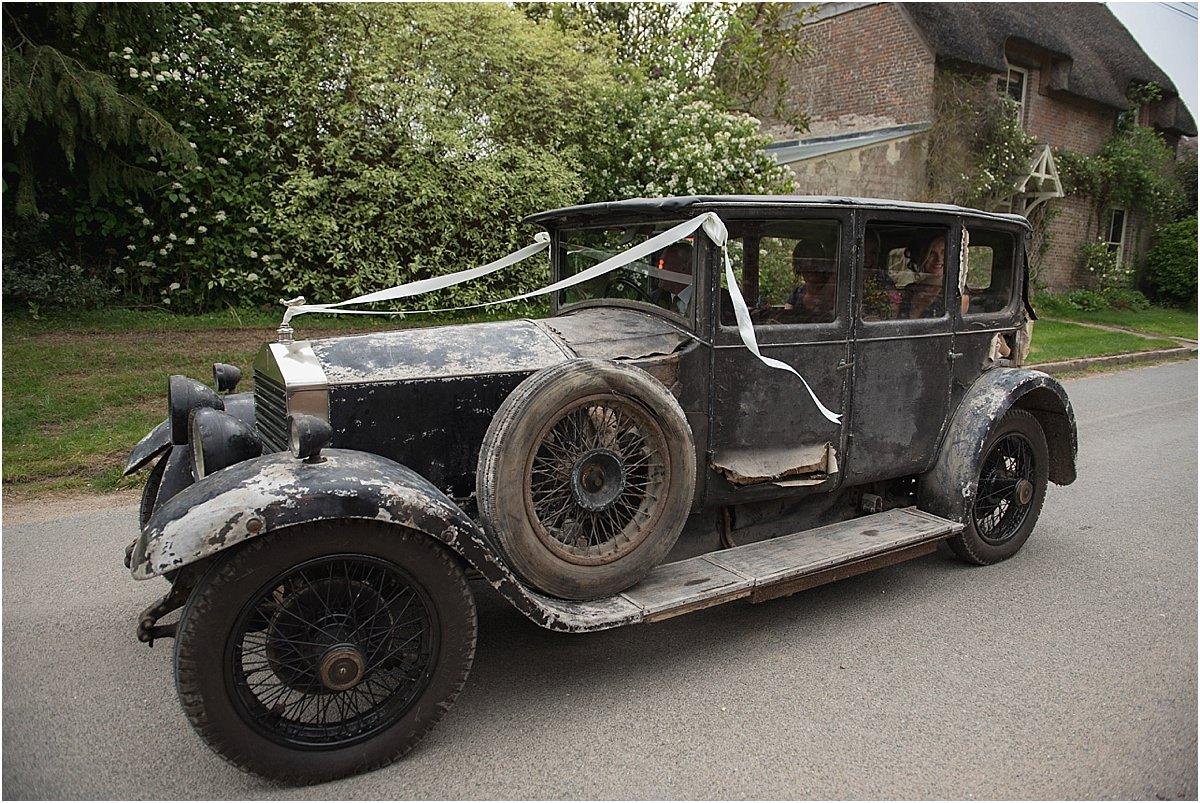 Vintage Rolls Royce bridal Car