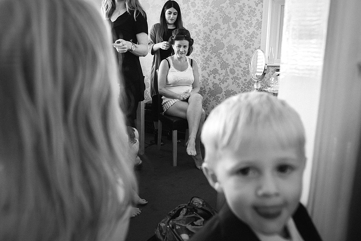 Bridal preparations in Weymouth