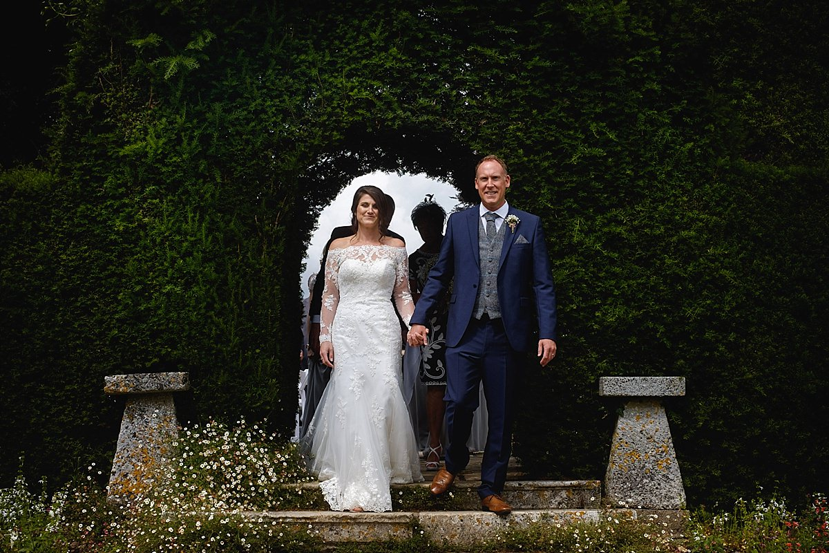 Kingston Maurward Red Garden Wedding