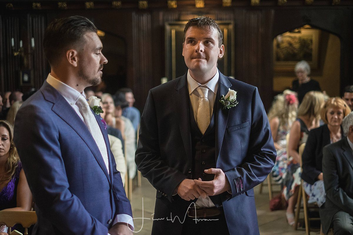 Nervous Looking Groom at Athelhampton House