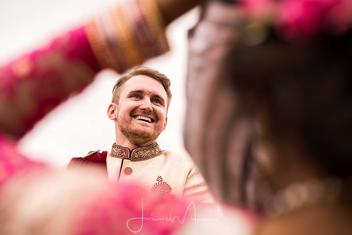 Smiling Groom at Indian ceremony