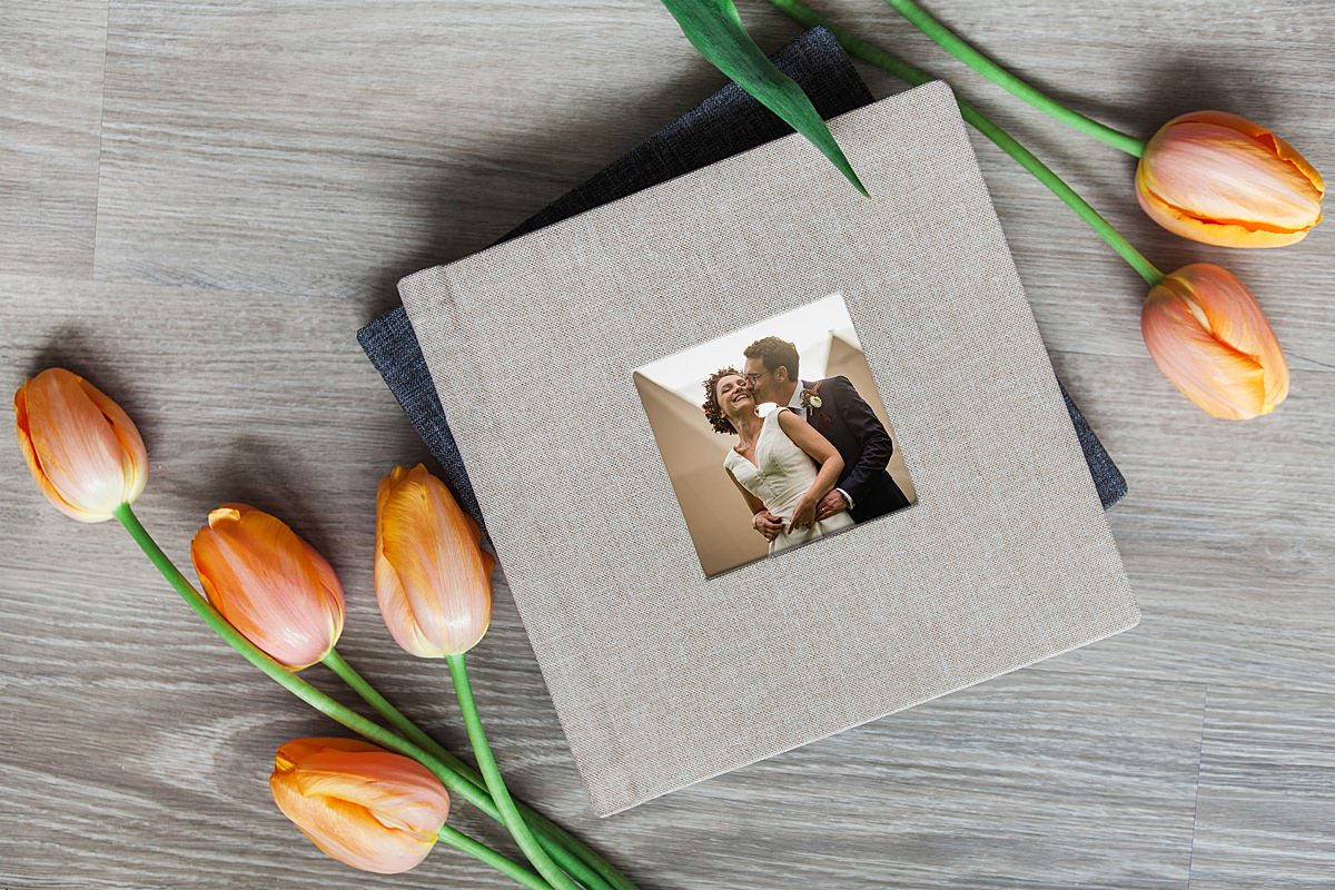 Wedding Album & tulips