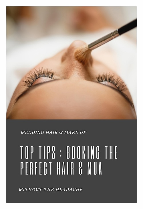 Booking Perfect Wedding Hair and Make Up