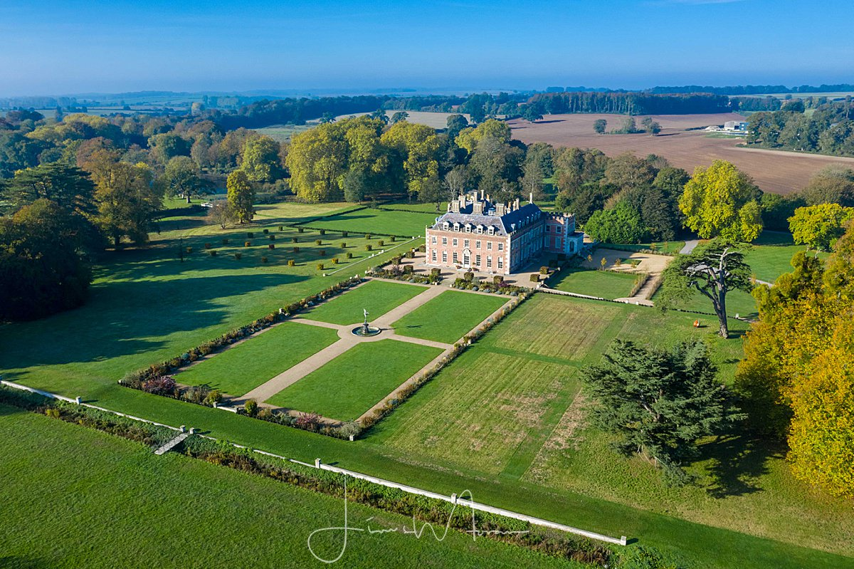 ST GILES HOUSE AERIAL PHOTOGRAPH