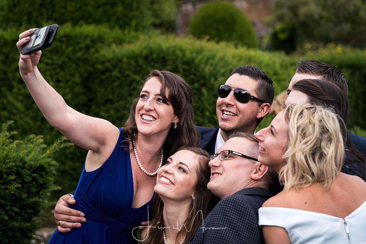 Wedding guests at Mapperton