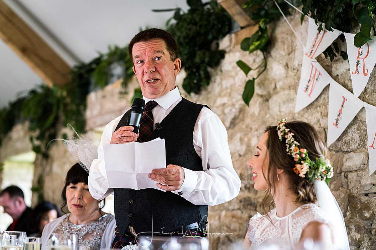 Wedding Breakfast speeches