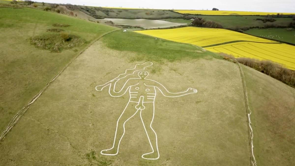 Tourism & Travel Aerial Filming of Cerne Giant Dorset